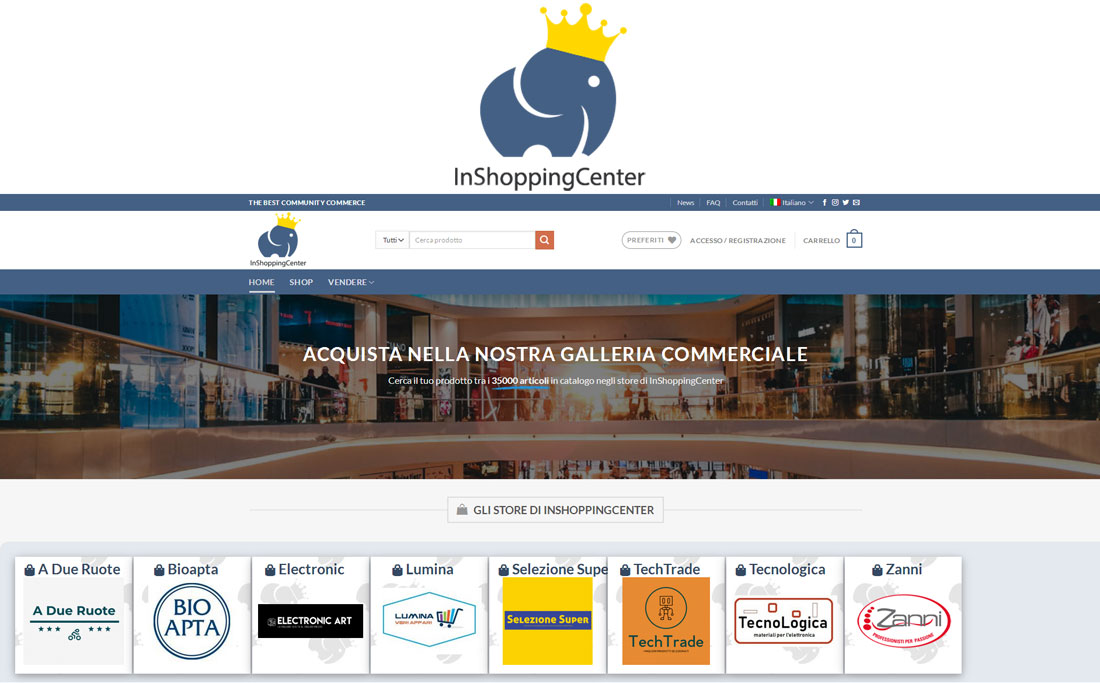VUOI VENDERE O COMPERARE, FACILMENTE, CON L'E-COMMERCE? C'E' INSHOPPINGCENTER